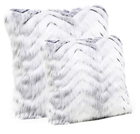 Crystal Fox Faux Fur Pillow - Fabulous Furs