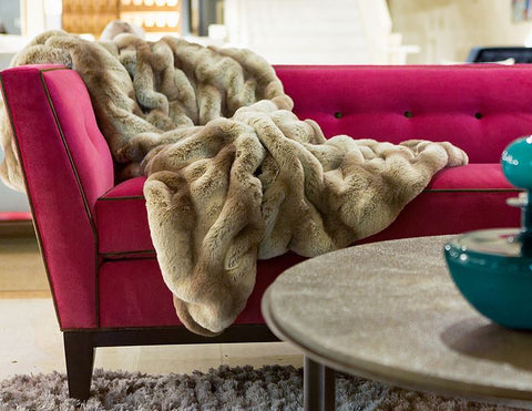 Truffle Chinchilla Couture Collection Fur Throws - Fabulous Furs