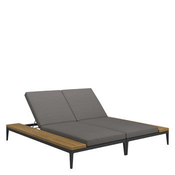 Grid Double Lounger - Gloster