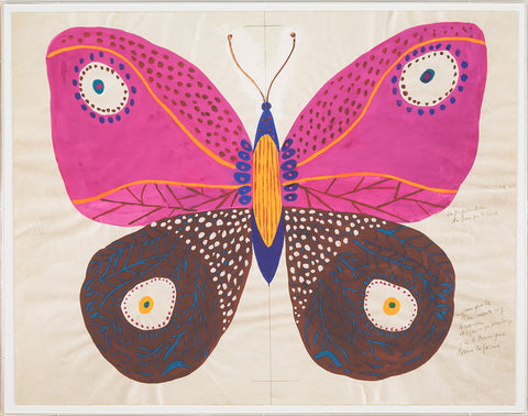 Gallop Express: Paule Marrot Butterfly, Pink - Natural Curiosities