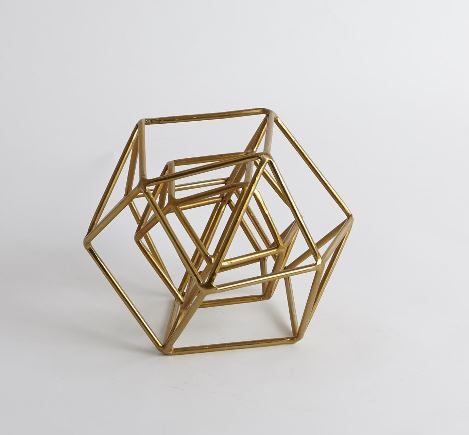 Geo Sculpture, Gold - Global Views
