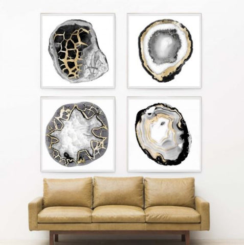 Black & White Geode 3 - Natural Curiosities