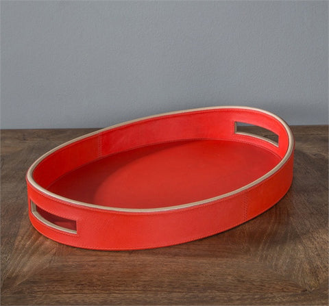 Gianna Leather Tray - Interlude Home