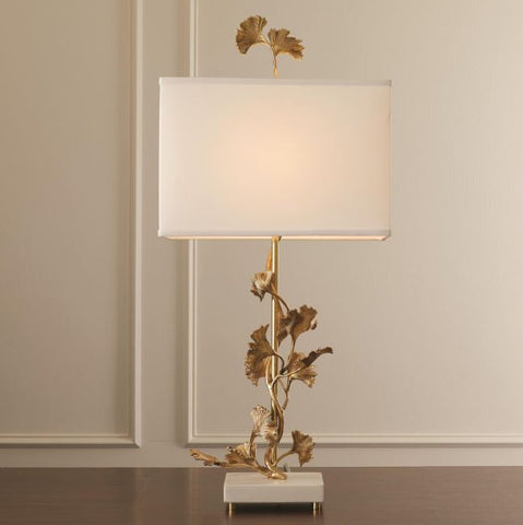 Ginkgo Table Lamp - Brass - Global Views
