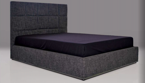Glare Gray King Bed - Mobital