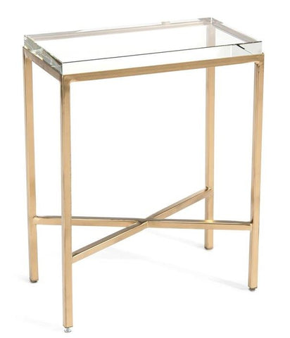 Glass Block Side Table - John-Richard
