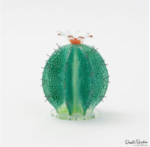 Barrel Cactus Glass Object - Global Views