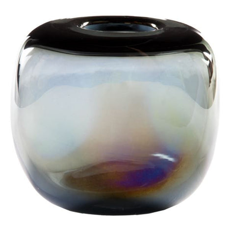 Organic Glass Opal Bud Vase - Gold Leaf Design Group
