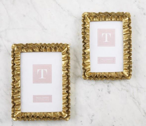 Gold Ruffles Frame - Two's Company