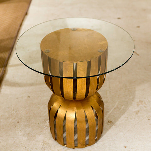 Gold Leaf Olympia Side Table - Dimond Home