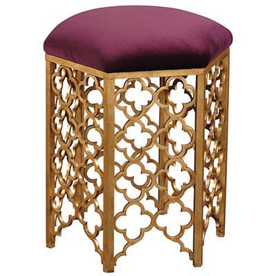 Gold Leaf Vanity Stool - Emerson Bentley