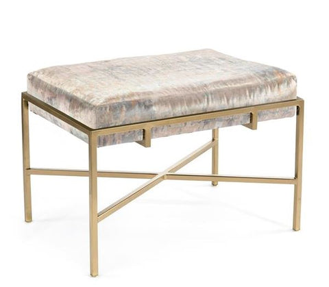 Gold Metal Ottoman - John-Richard