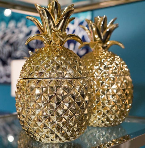 Golden Hospitality Pineapple Jars (2) - Two's Company