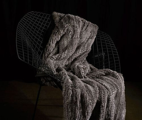 Knit Rabbit With Tails Throw - Adrienne Landau