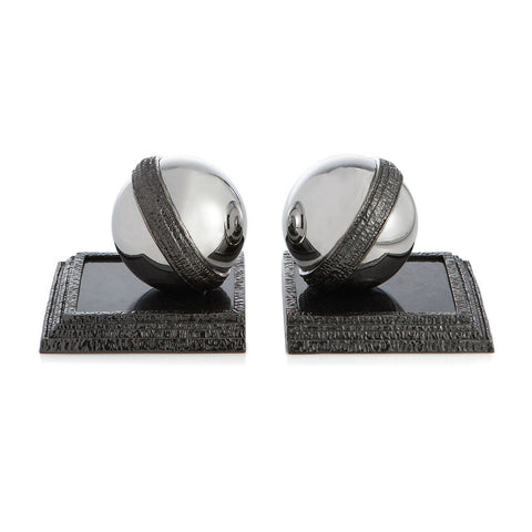 Gotham Orb Bookends Set Of 2 - Michael Aram