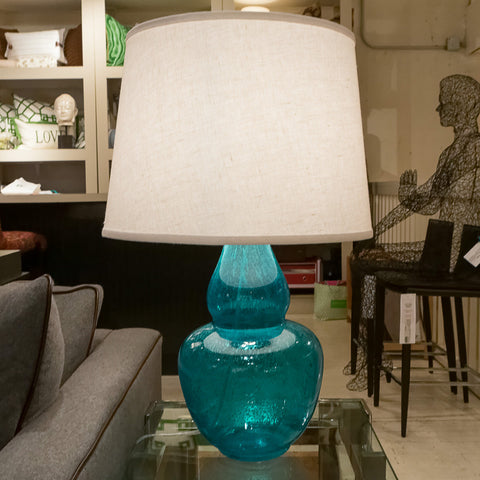 Gourd Aqua Table Lamp - Jamie Young