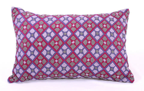 Graphic Argyle French Knots Pillow - Sabira Collection