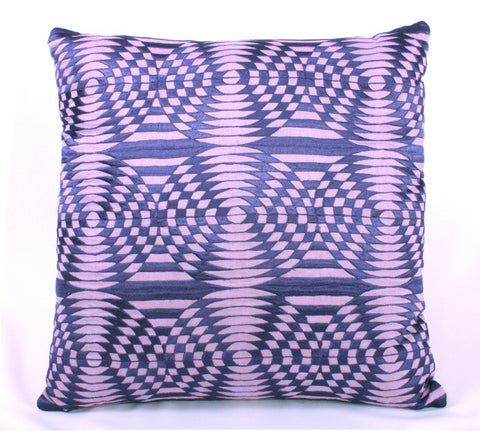 Graphic Circle Mosaic Design Pillow - Sabira Collection