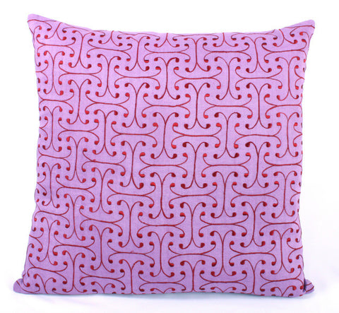 Graphic Mini Scroll Design Pillow - Sabira Collection