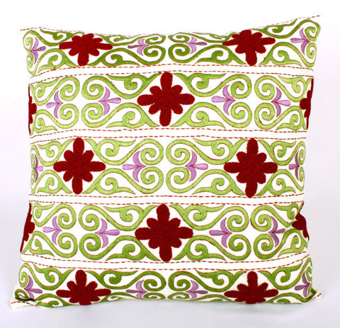 Graphic Scroll Design Pillow - Sabira Collection