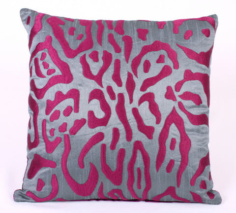 Graphic Snow Leopard Pillow - Sabira Collection