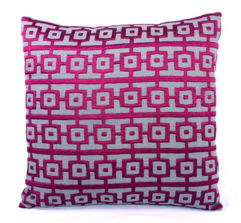 Graphic Square Design Pillow - Sabira Collection