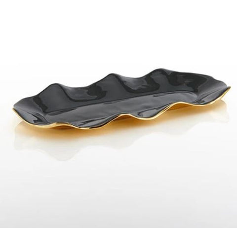 Ruffled Long Tray Graphite - Nima Oberoi - Lunares