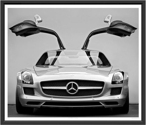 Mercedes 2014 SLS Gull-wing Photo Print - Trowbridge Gallery