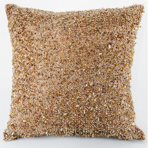 Heavy Beaded Rose Pillow - Sabira Collection