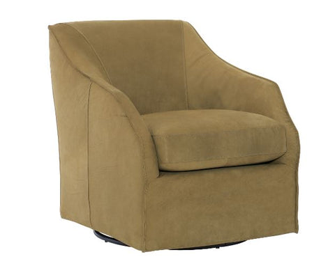 Hannah Leather Swivel Chair - Bernhardt Furniture