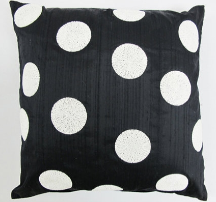 Harlequin Polka Dot White On Black - Sabira Collection