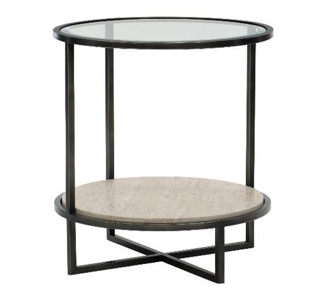 Harlow Metal Round Chairside Table - Bernhardt Furniture