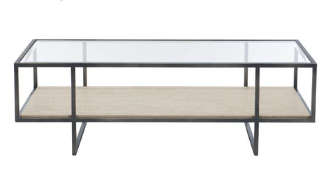 Harlow Metal Rectangular Cocktail Table - Bernhardt Furniture