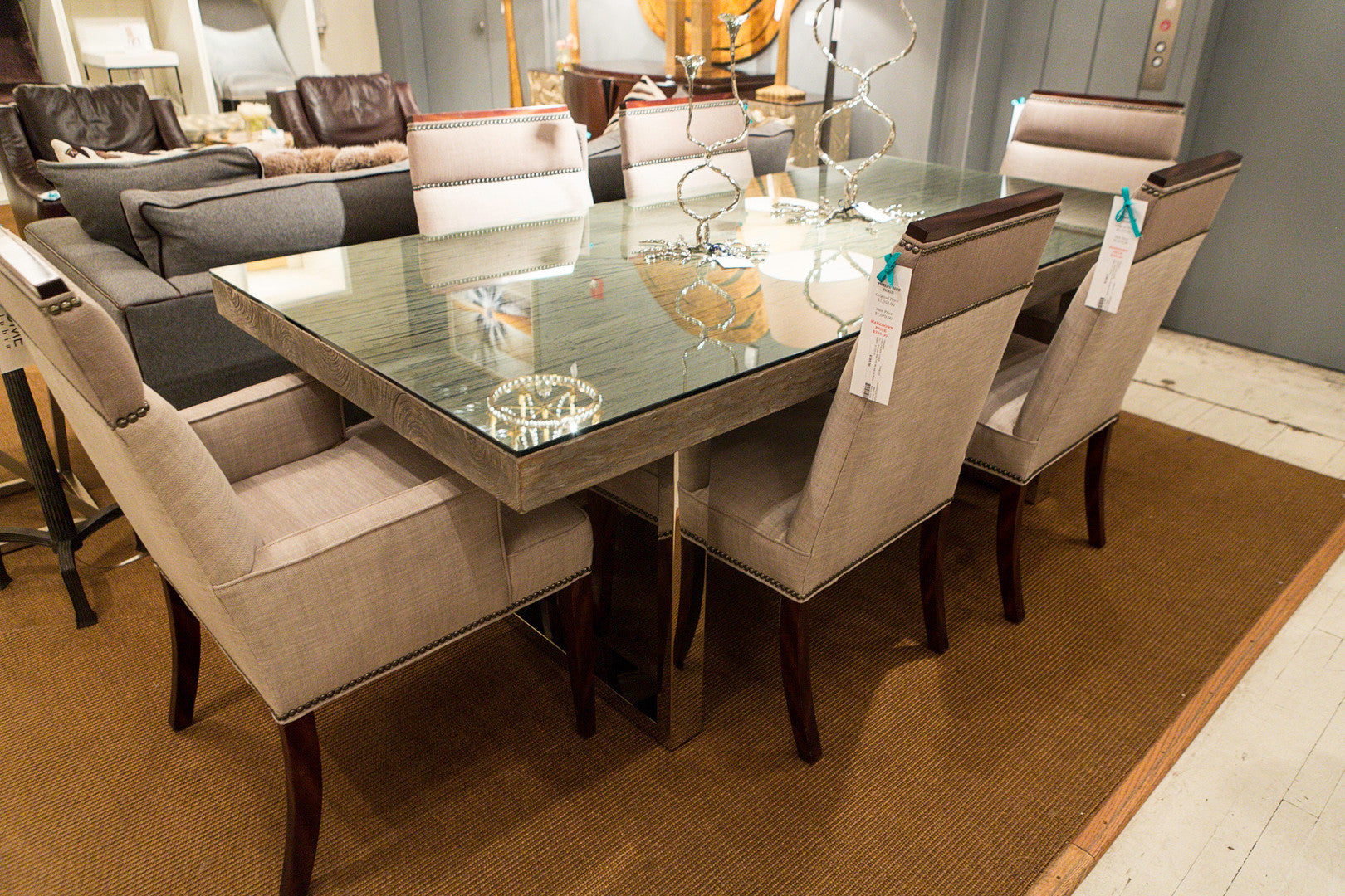 Henley 84 dining table bernhardt interiors luxe home for Bernhardt furniture