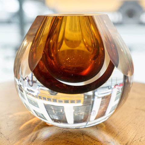 Hexagon Cut Glass Vase - Global Views