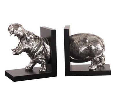 Hippo Book Ends - Set of 2 - Howard Elliott