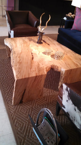 Spalted Ambrosia Maple Cocktail Table - Wood Shop