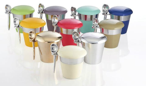 Pint Ice Cream Server With Spoon Indigo - Nima Oberoi-Lunares