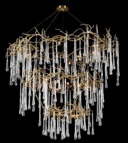 Branched Crystal Twenty-Light Chandelier - John-Richard