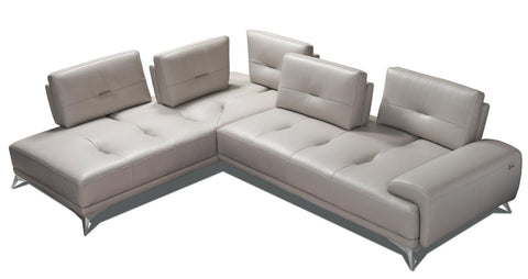 i764 Leather Sectional, Left Facing - Incanto