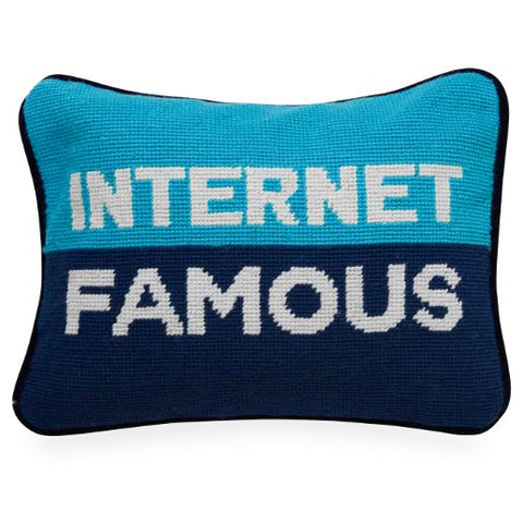 Internet Famous Needlepoint Pillow - Jonathan Adler