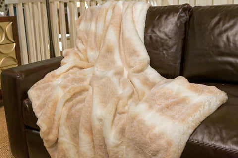 Iced Mink Couture Faux Fur Throw  - Fabulous Furs