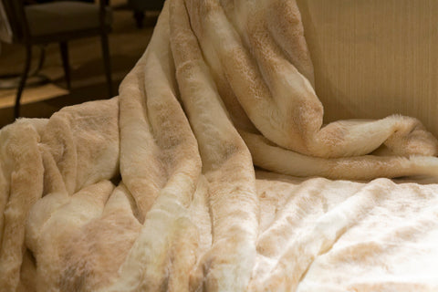 Ice Mink Couture Faux Fur Throw - 60