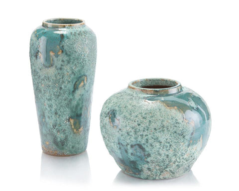Sea Foam Vases, Set of Two - John-Richard