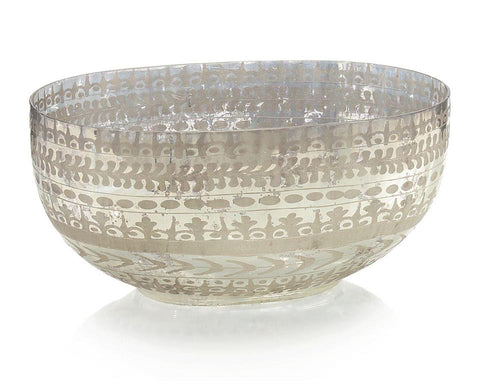 Etched Mercury Glass Bowl - John-Richard