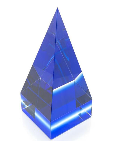 Blue And Clear Crystal Pyramid - John-Richard