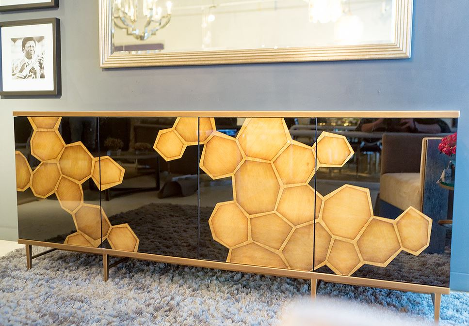 Honeycomb Credenza - John-Richard | Luxe Home Philadelphia