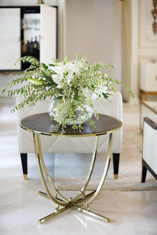 Jet Set Round End Table - Bernhardt Furniture