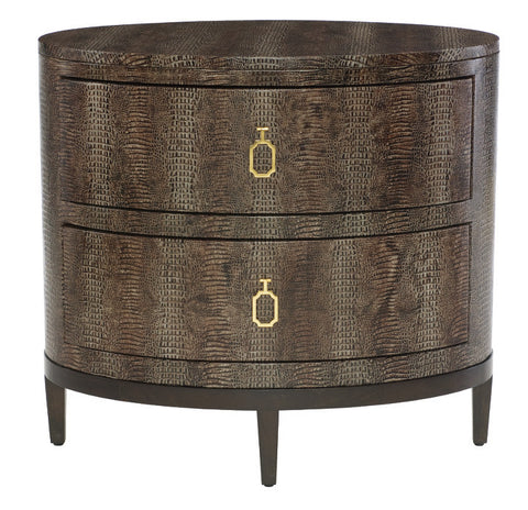Jet Set Oval Nightstand - Bernhardt Furniture