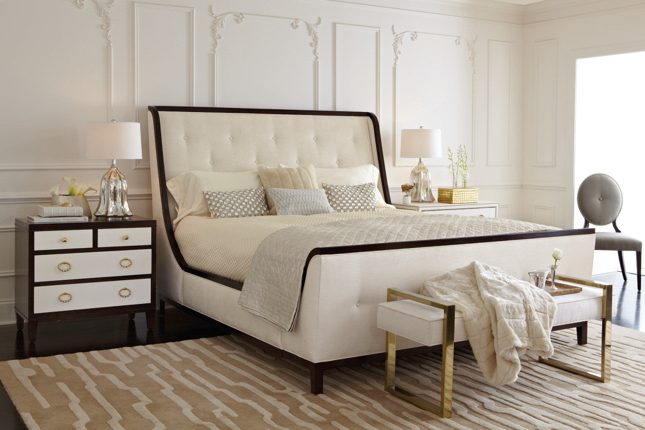 Jet set upholstered queen bed bernhardt furniture